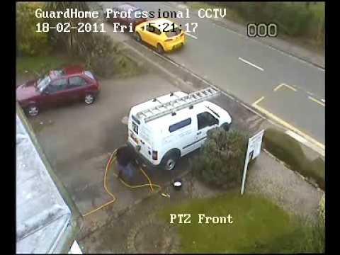 Demonstration of PTZ (Pan, Tilt, Zoom) CCTV