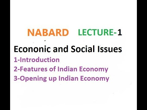 Economic and Social Issues Lec 1