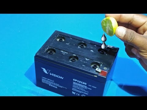 How To Repair Dry Battery At Home Repair Old Dead Dry Battery Acid Battery Repairation
