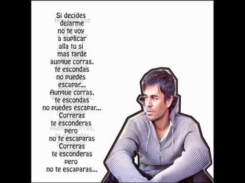 Escapar - Enrique Iglesias - Karaoke/Letra HD