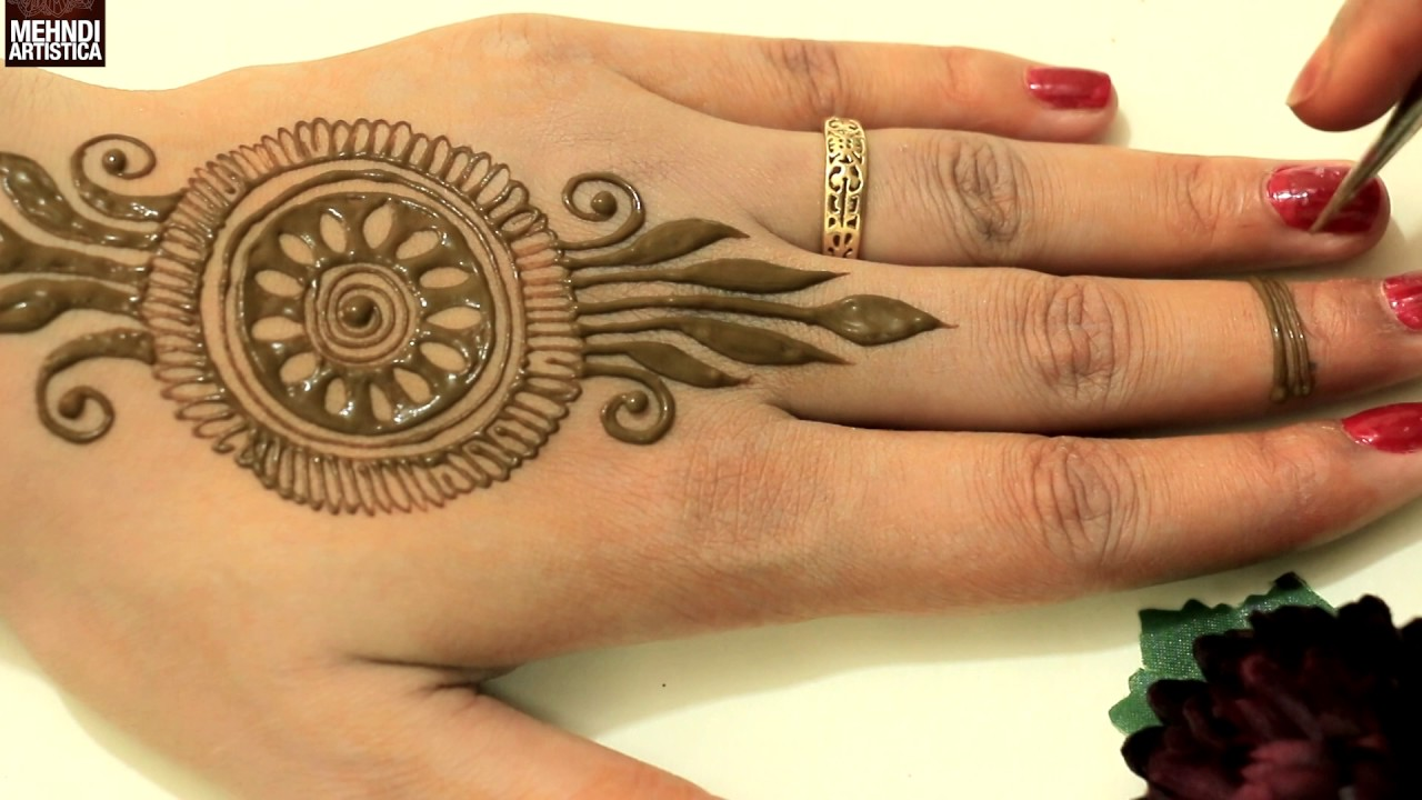 Cute Easy Unique Circular Mehndi Designs Simple Mehendi Design For