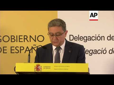 Briefing by Spanish government's delegation to Catalonia