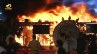 Major Fire Breaks Out During Make In India Week Event  Exclusive Visuals  Mango News