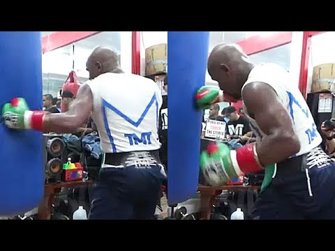 FLOYD MAYWEATHER UNLEASHES SAVAGE LEFT HOOKS; WORKING ON KNOCKOUT PUNCH FOR MCGREGOR