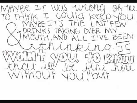 Between You & I Every Avenue Lyrics On Screen And Doodles