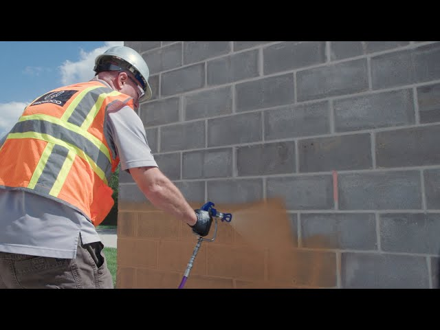 How to Spray Cat 5 on CMU back-up wall