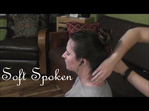 ASMR [Real Life] Hair Brushing, Hair Play Head Massage - Soft Spoken