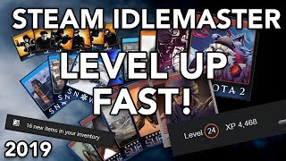 LEVEL UP YOUR STEAM ACCOUNT FAST! - FARM TRADING CARDS WITH STEAM IDLEMASTER - 2019