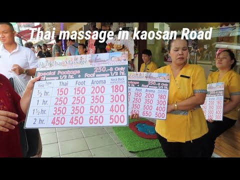 Thai massage in kaosan road
