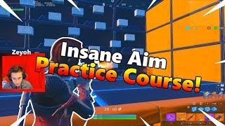 Insane Aiming Practice Course! - Fortnite Tips And Tricks