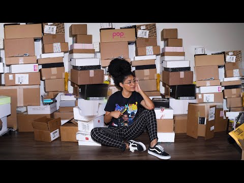 100+ BOXES OF NEW MAKEUP/CLOTHES.. HUGE UNBOXING! | jasmeannnn