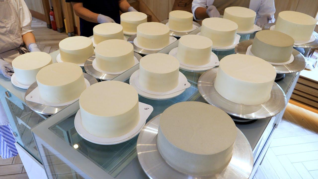 특별한 날을 더 특별하게 해주는! 다양한 플라워 생크림케익 만들기 various fresh cream flower cake making - korean street food
