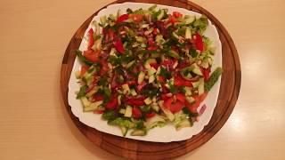 Полезный салат витаминный с авокадо и пекинской капустой