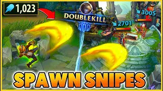 I SPAWN KILL THE ADC 4 TIMES IN A ROW (VERY FUNNY) - BunnyFuFuu | League of Legends