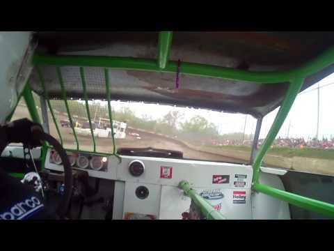 5.2.15---Peoria Speedway--Street Stock Heat Race in car Camera