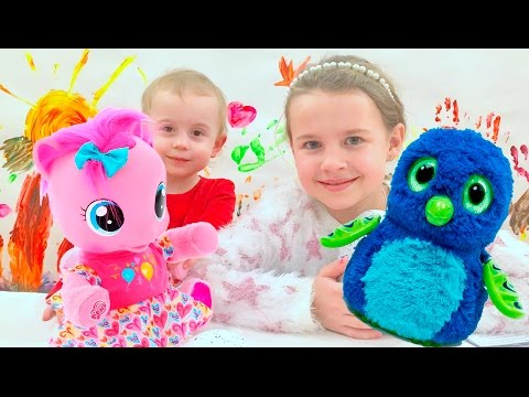 Kid takes Candy Learn colors with Johny Johny yes papa song Nursery Rhymes Playground for Kids