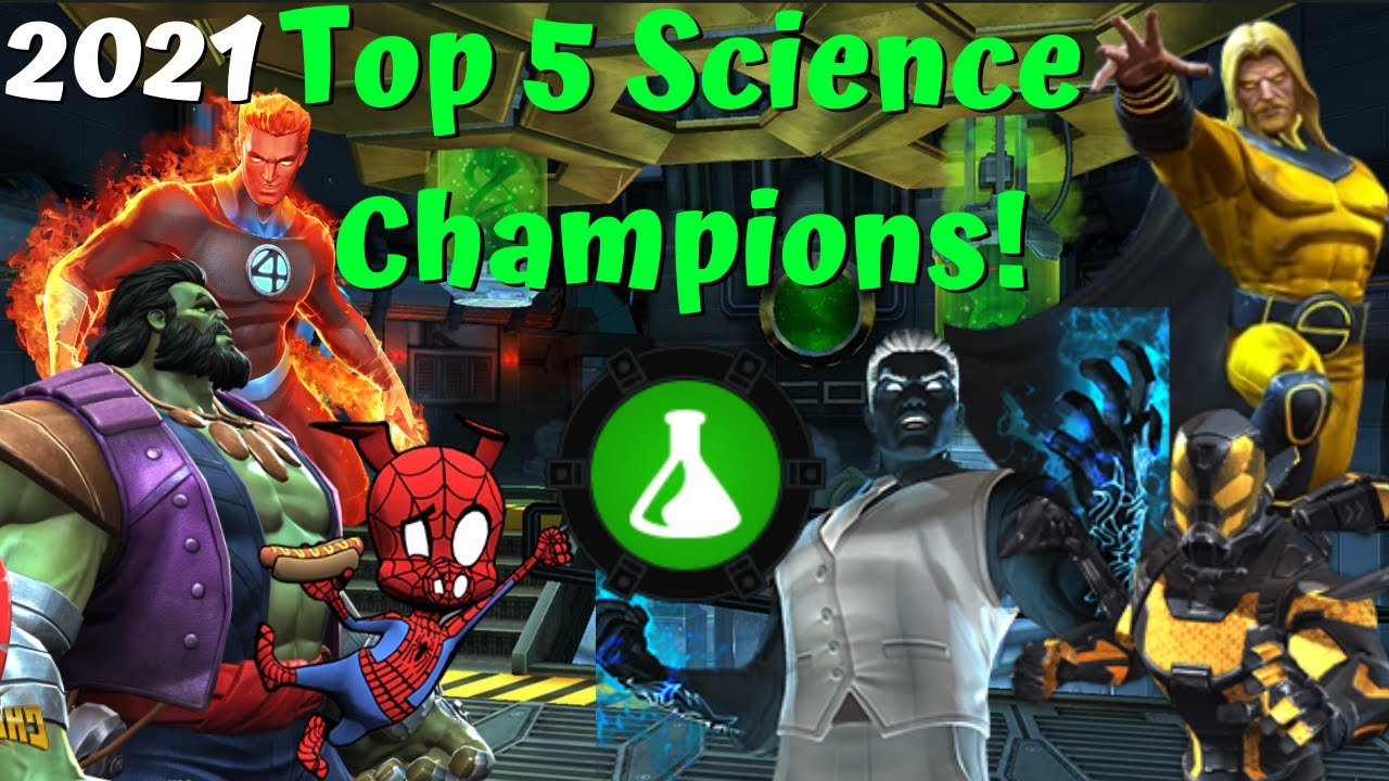 Top 5 Best Science Champs In MCOC! Ranked! My Opinion! - Marvel Contest of Champions