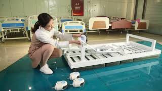 2 cranks hospital bed   how to set up a hospital bed