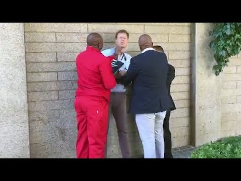 EFF's Floyd Shivambu intimidates journalist outside parliament