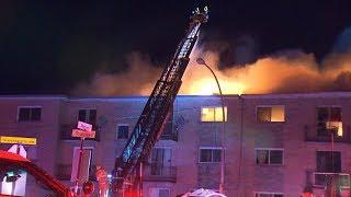 Fire kills 3, destroys apartment building in Quebec