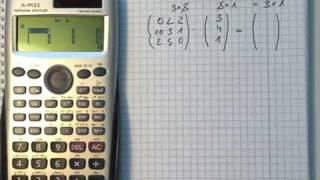 Matrix Multiplikation mit dem Taschenrechner