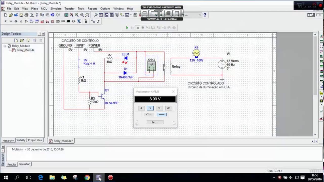 Relay Module Circuit Multisim Test YouTube
