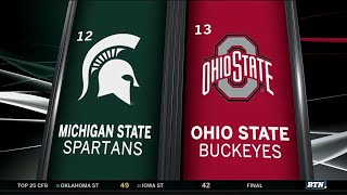 Michigan State at Ohio State - Football Highlights