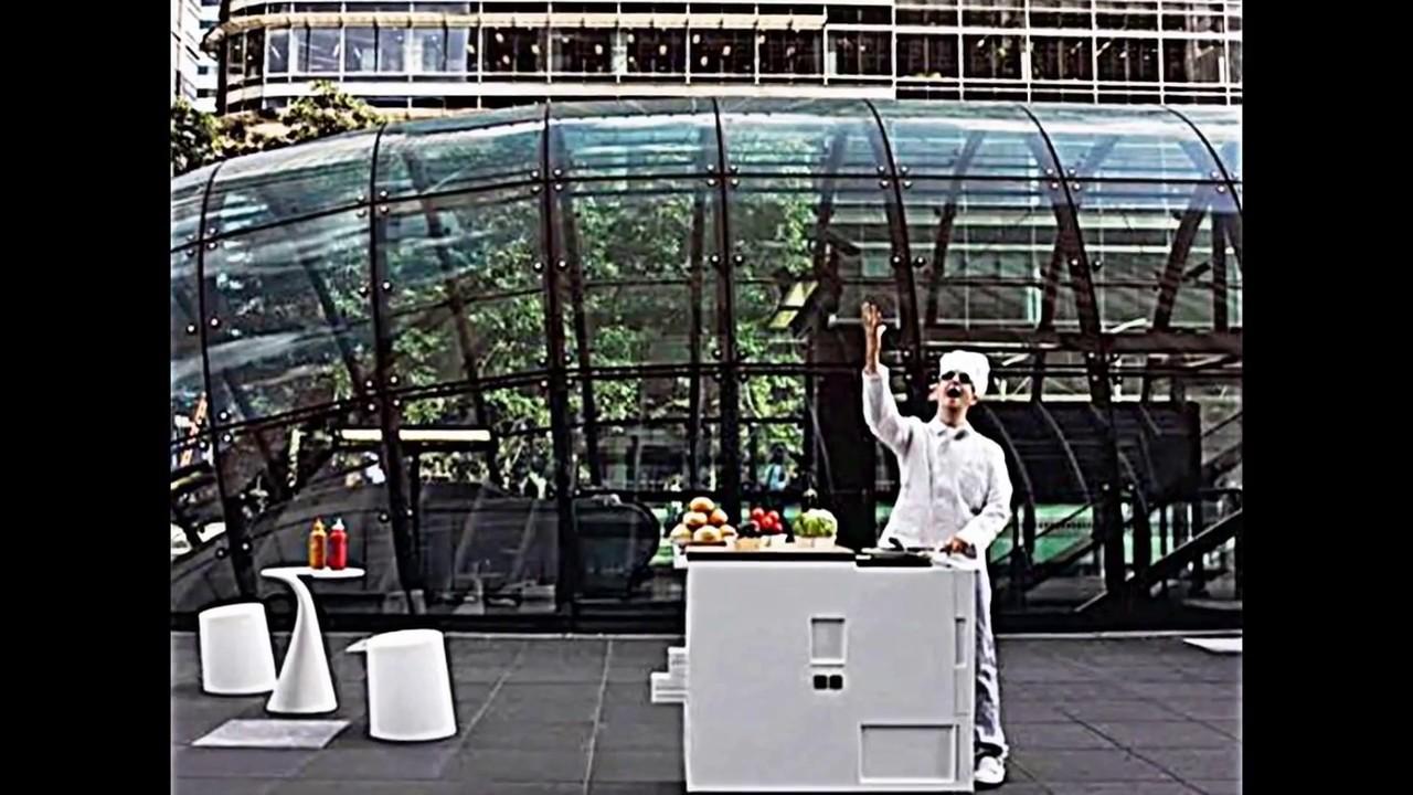 Platzsparende Mini Küche -- die Singleküche von Boffi - YouTube