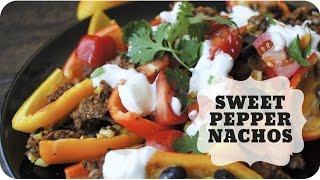 Baked Sweet Pepper Nachos