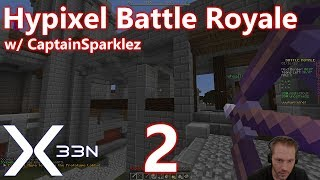 Minecraft PvP: Hypixel Battle Royale - 02 - w/ CaptainSparklez (Hunger Games + Fortnite)