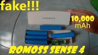 Fake Romoss Sense 4 10 000 mah Power Bank Disassembly and Review