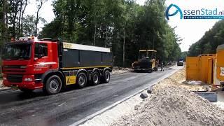 asfalt stadsboulevard Europaweg in Assen