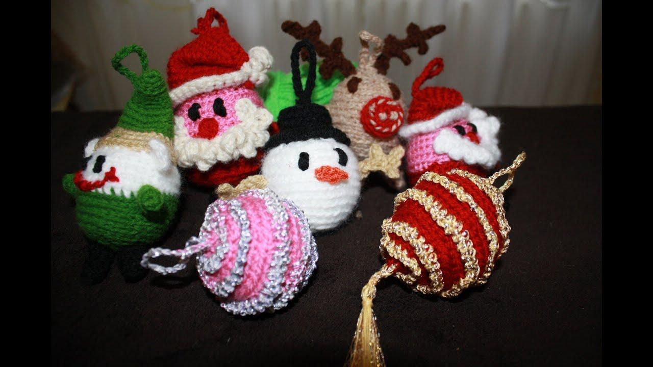 Amigurumi Tutorial Natale : palline di Natale amigurumi prima parte - YouTube