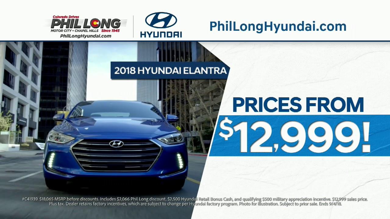 Phil Long Hyundai >> Phil Long Hyundai Of Motor City Epic Summer Savings Youtube