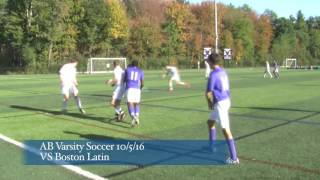 Acton Boxborough Boys Varsity Soccer vs  Boston Latin 10/5/16