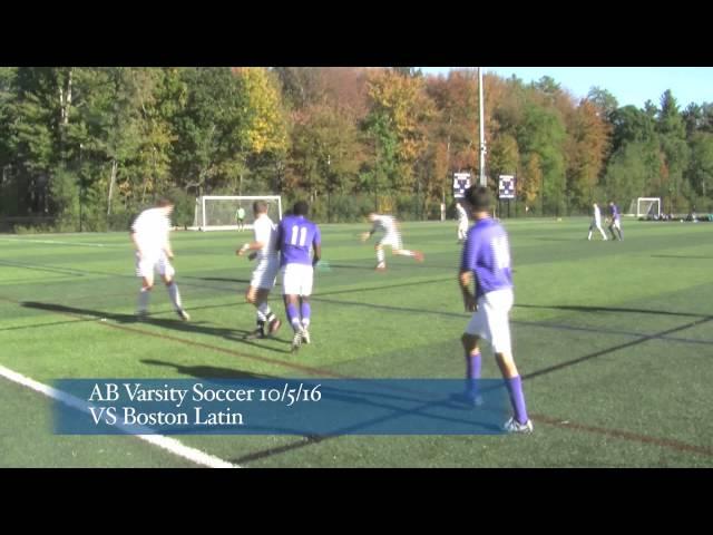 Acton Boxborough Boys Varsity Soccer vs  Boston Latin 10/5/16
