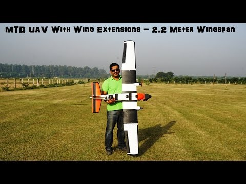 MTD UAV With Wing Extensions - 2.2 Meter Wingspan - For Mapping and Surveillance