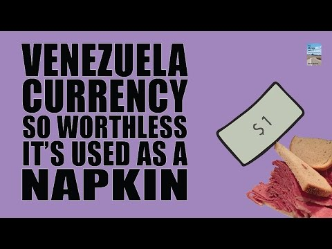 Venezuela Currency So Worthless it's Used as a Napkin! Hyperinflation Escalation!