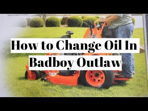 Changing Oil In Badboy How To Change Oil In Kawasaki