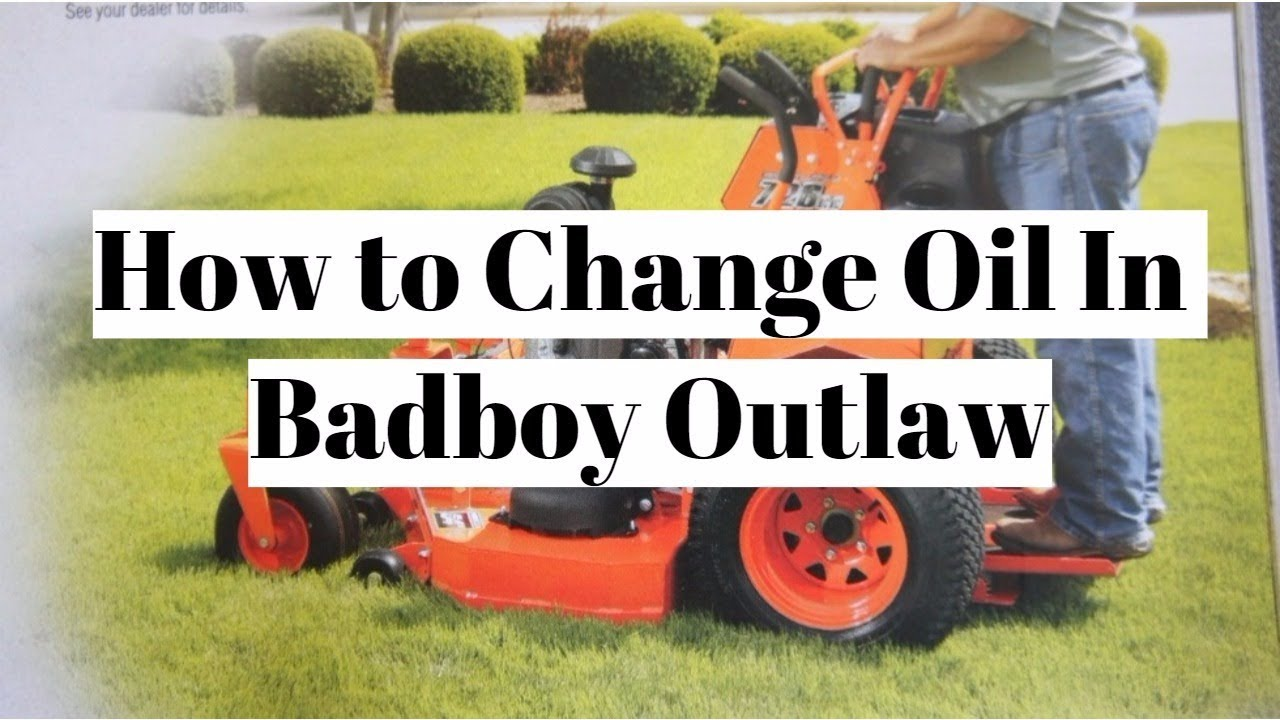 Changing Oil In Badboy! | How to Change Oil in Kawasaki FS730V