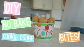 DIY NO BAKE COOKIE DOUGH BITES  easy & quick!   itzamanda