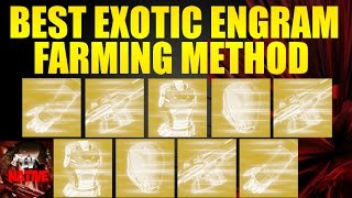 Destiny Rise of Iron | How to get Exotic Weapons | Best Exotic Engram Farming Method