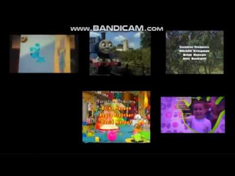 Bear, Blue's Clues, Hi-5, Mopatop's Shop, Rollplay, Thomas and Yo Gabba Gabba Credits Remix