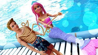 Барби русалки украли Кена! Аквапарк - Развлечения для детей. Я не хочу в школу 45
