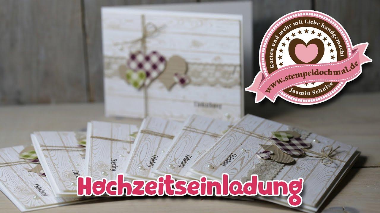 Schön Tutorial: Hochzeitskarte/Einladung Mit Produkten Von Stampinu0027 Up!   YouTube