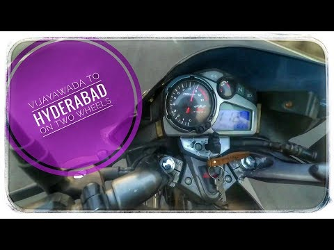 Vijayawada to Hyderabad 300KM || Solo ride || Deccan Explorer Rider|| part-1