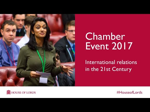 International Relations in the 21st Century | Chamber Event 2017 | House of Lords