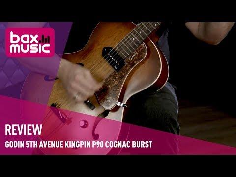 Godin 5th Avenue Kingpin P90 Cognac Burst elektrische gitaar - Review