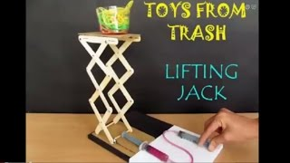 Repeat youtube video LIFTING JACK - ENGLISH - Hydraulic Jack! from Ice Cream Sticks
