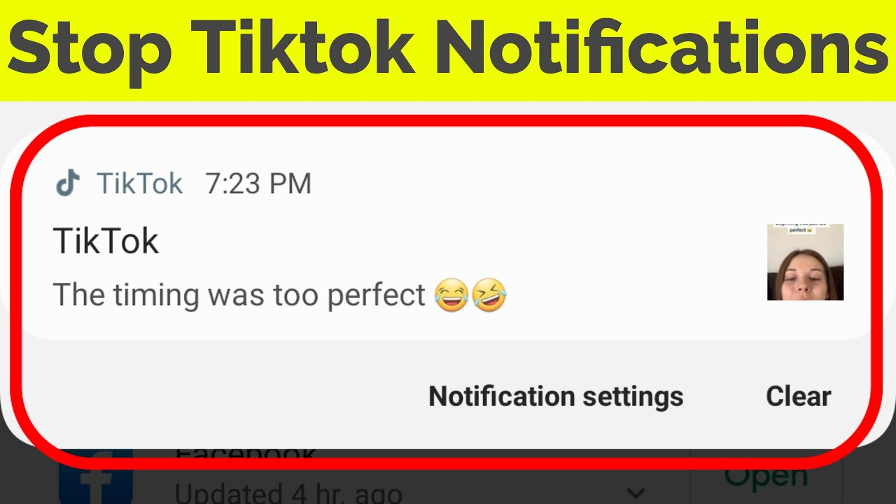 How to Enable or Disable TikTok Push Notifications on Android  |Tiktok 4 Notifications